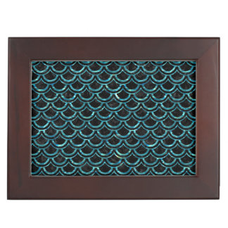 SCALES2 BLACK MARBLE & BLUE-GREEN WATER KEEPSAKE BOX