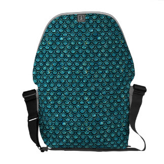 SCALES2 BLACK MARBLE & BLUE-GREEN WATER (R) COMMUTER BAG