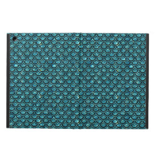 SCALES2 BLACK MARBLE & BLUE-GREEN WATER (R) COVER FOR iPad AIR