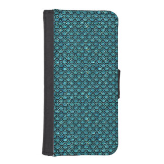 SCALES2 BLACK MARBLE & BLUE-GREEN WATER (R) iPhone SE/5/5s WALLET CASE