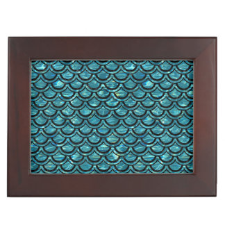 SCALES2 BLACK MARBLE & BLUE-GREEN WATER (R) KEEPSAKE BOX