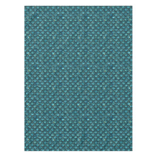 SCALES2 BLACK MARBLE & BLUE-GREEN WATER (R) TABLECLOTH