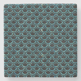 SCALES2 BLACK MARBLE & BLUE-GREEN WATER STONE COASTER