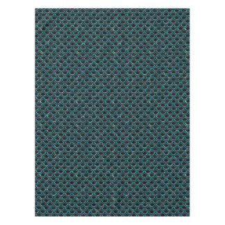 SCALES2 BLACK MARBLE & BLUE-GREEN WATER TABLECLOTH