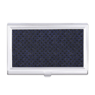 SCALES2 BLACK MARBLE & BLUE LEATHER BUSINESS CARD HOLDER