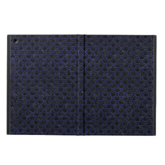 SCALES2 BLACK MARBLE & BLUE LEATHER iPad AIR CASE