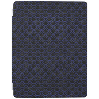 SCALES2 BLACK MARBLE & BLUE LEATHER iPad COVER