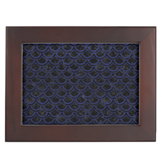 SCALES2 BLACK MARBLE & BLUE LEATHER KEEPSAKE BOX