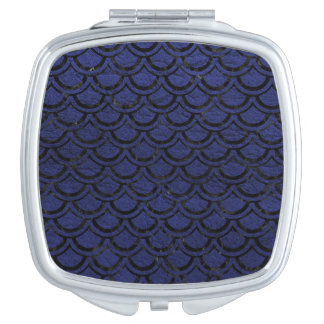 SCALES2 BLACK MARBLE & BLUE LEATHER (R) COMPACT MIRROR