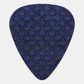 SCALES2 BLACK MARBLE & BLUE LEATHER (R) GUITAR PICK