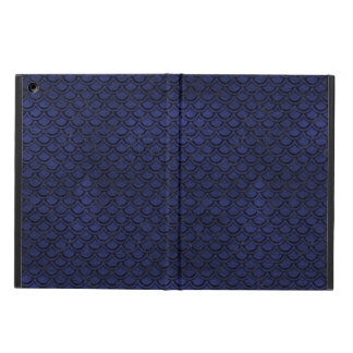 SCALES2 BLACK MARBLE & BLUE LEATHER (R) iPad AIR COVER