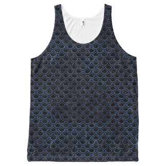 SCALES2 BLACK MARBLE & BLUE STONE All-Over-Print TANK TOP