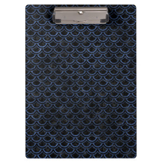 SCALES2 BLACK MARBLE & BLUE STONE CLIPBOARD