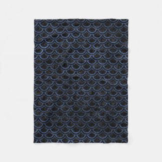 SCALES2 BLACK MARBLE & BLUE STONE FLEECE BLANKET