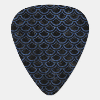 SCALES2 BLACK MARBLE & BLUE STONE GUITAR PICK