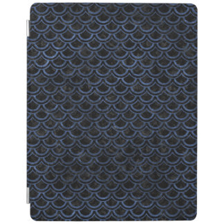 SCALES2 BLACK MARBLE & BLUE STONE iPad COVER