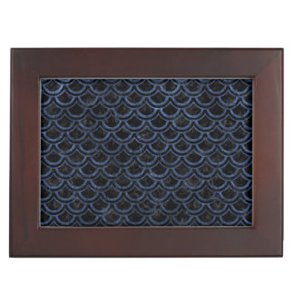 SCALES2 BLACK MARBLE & BLUE STONE KEEPSAKE BOX