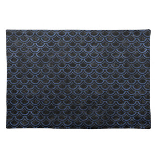 SCALES2 BLACK MARBLE & BLUE STONE PLACEMAT