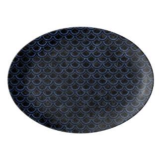 SCALES2 BLACK MARBLE & BLUE STONE PORCELAIN SERVING PLATTER