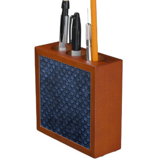 SCALES2 BLACK MARBLE & BLUE STONE (R) DESK ORGANIZER