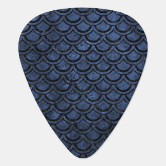 SCALES2 BLACK MARBLE & BLUE STONE (R) GUITAR PICK