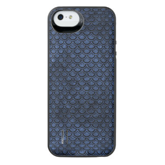 SCALES2 BLACK MARBLE & BLUE STONE (R) iPhone SE/5/5s BATTERY CASE