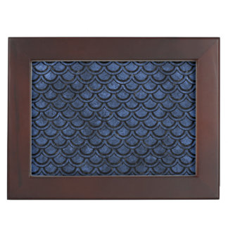SCALES2 BLACK MARBLE & BLUE STONE (R) KEEPSAKE BOX