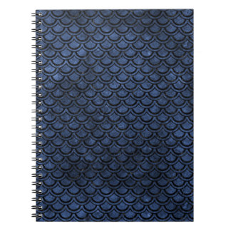 SCALES2 BLACK MARBLE & BLUE STONE (R) NOTEBOOKS