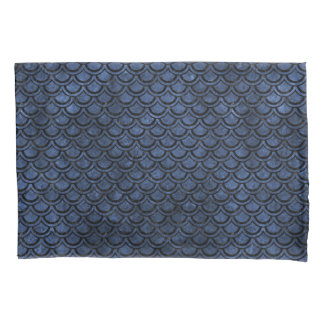 SCALES2 BLACK MARBLE & BLUE STONE (R) PILLOWCASE