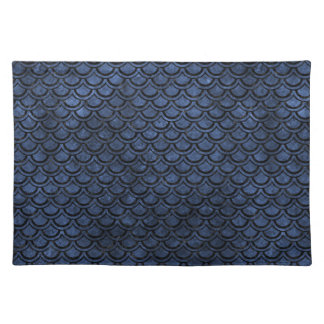 SCALES2 BLACK MARBLE & BLUE STONE (R) PLACEMAT