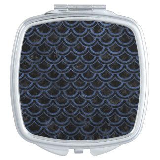 SCALES2 BLACK MARBLE & BLUE STONE VANITY MIRROR