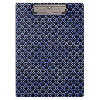 SCALES2 BLACK MARBLE & BLUE WATERCOLOR CLIPBOARD