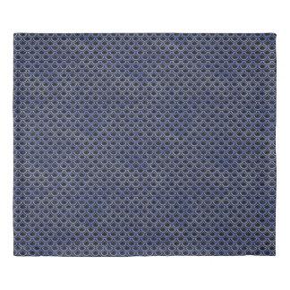 SCALES2 BLACK MARBLE & BLUE WATERCOLOR DUVET COVER