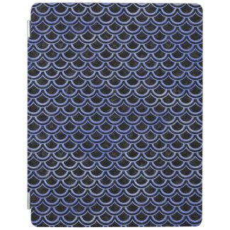 SCALES2 BLACK MARBLE & BLUE WATERCOLOR iPad COVER