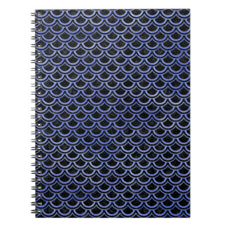 SCALES2 BLACK MARBLE & BLUE WATERCOLOR NOTEBOOK