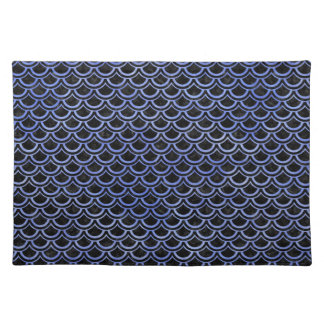 SCALES2 BLACK MARBLE & BLUE WATERCOLOR PLACEMAT