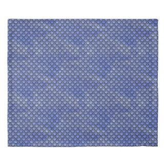 SCALES2 BLACK MARBLE & BLUE WATERCOLOR (R) DUVET COVER