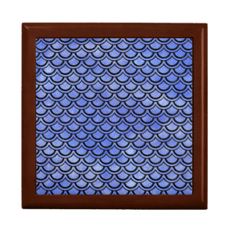 SCALES2 BLACK MARBLE & BLUE WATERCOLOR (R) GIFT BOX