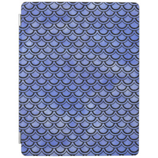 SCALES2 BLACK MARBLE & BLUE WATERCOLOR (R) iPad COVER