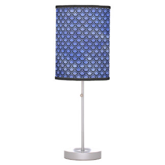 SCALES2 BLACK MARBLE & BLUE WATERCOLOR (R) TABLE LAMP