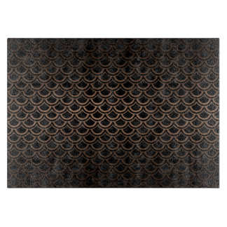 SCALES2 BLACK MARBLE & BRONZE METAL CUTTING BOARD