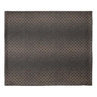 SCALES2 BLACK MARBLE & BRONZE METAL DUVET COVER