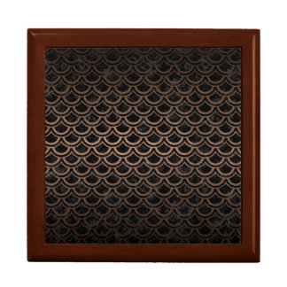SCALES2 BLACK MARBLE & BRONZE METAL GIFT BOX