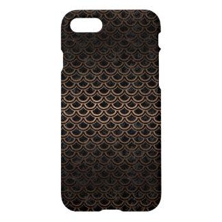 SCALES2 BLACK MARBLE & BRONZE METAL iPhone 8/7 CASE