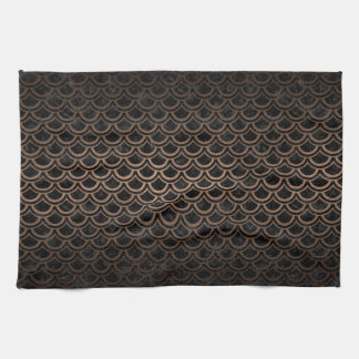 SCALES2 BLACK MARBLE & BRONZE METAL KITCHEN TOWEL