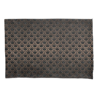 SCALES2 BLACK MARBLE & BRONZE METAL PILLOWCASE