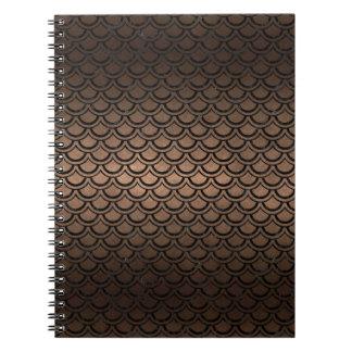 SCALES2 BLACK MARBLE & BRONZE METAL (R) SPIRAL NOTEBOOK