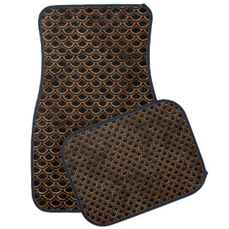 SCALES2 BLACK MARBLE & BROWN STONE CAR MAT
