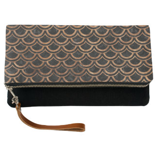 SCALES2 BLACK MARBLE & BROWN STONE CLUTCH