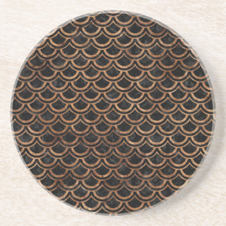 SCALES2 BLACK MARBLE & BROWN STONE COASTER